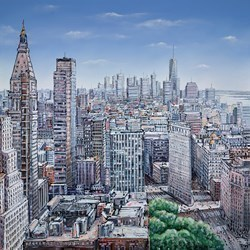 New York Vista by Phillip Bissell -  sized 48x48 inches. Available from Whitewall Galleries